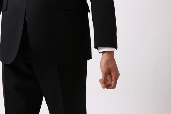 ジャストサイズの場合の袖口