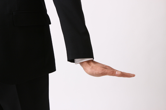 ジャストサイズの袖口
