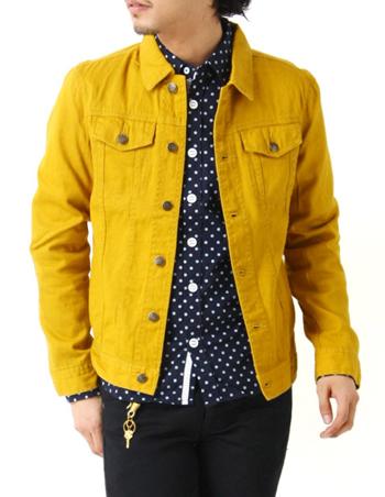 黄色のデニムジャケット