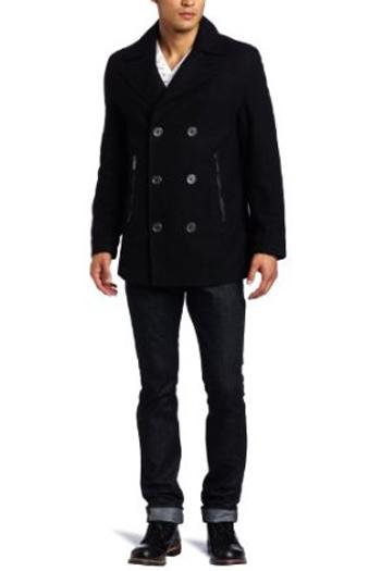 6.黒のピーコートで男っぽく ...