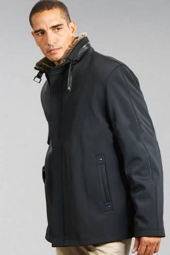 スタンドカラーコート